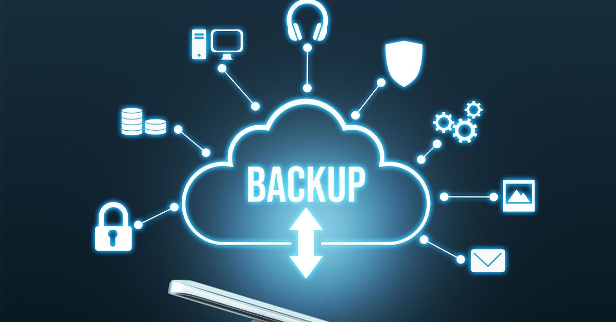 Cloud storage backup saving business files for ample security