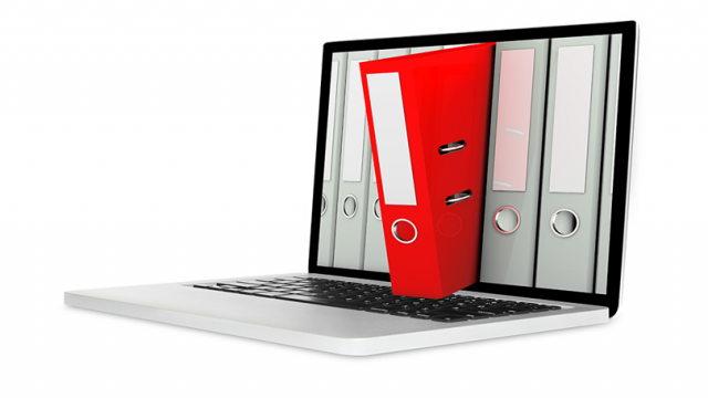 Computer storing scanned files of backfile, dayforward, and a combination of both digitization strategies.