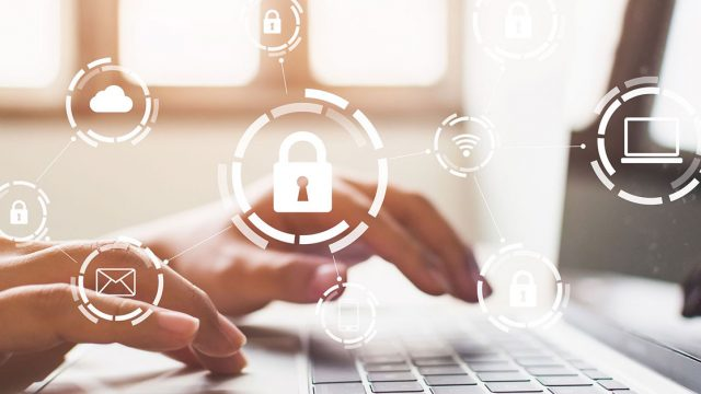 User protecting their documents with 5 steps to electronic document security